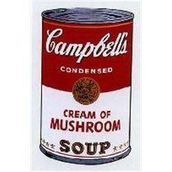 Warhol Print Campbell's Soup Can Cream of Mushroom