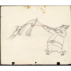 Jerky Turkey Original Animation Drawing 1945 Dinner