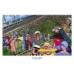 Jeff Williams Chapeaux de Derby Horse Racing Art Print