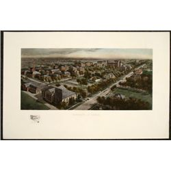 University of Illinois Art Print U of I Etching 1911