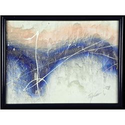 Taylor Orig Abstract Canvas Oil & Sand Painting Framed