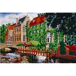 Juan Medina OPEN WINDOW IN BELGIUM Signed Art Print