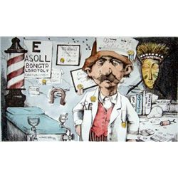 Charles Bragg Signed Medical Suite Art Print G.P.