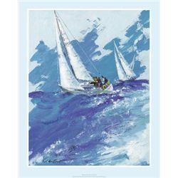 Terence Gilbert Sailing Sailboat Art Print