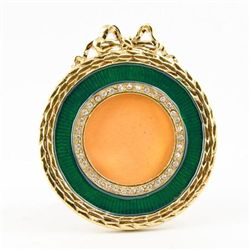 Faberge Enameled Photo Frame