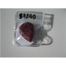 22.83 carat Pear shaped Ruby