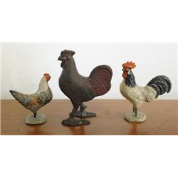 Cast iron rooster bank