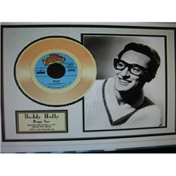 Peggy Sue  24 Kt. Gold plated 45 Record