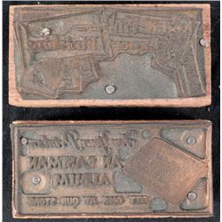 2 Kodak Camera Copper Printers Blocks 1920s Film, Album