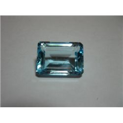 Large Emerald Cut Blue Topaz 21.55 carats