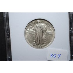 1920 US Standing Liberty Quarter; MCPCG Graded EF40; EST. $50-100