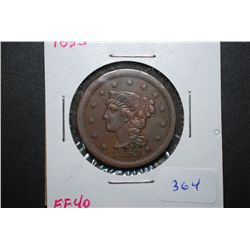 1853 US Large One Cent; EF40; EST. $60-125