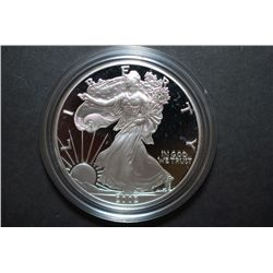 2002-W US Silver American Eagle $1 Proof In Velvet Box With COA Included; 99.9% Silver 1 Oz.; EST. $