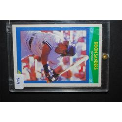 1990 MLB Deion Sanders New York Yankees Baseball Trading Card In Display Case; EST. $5-10