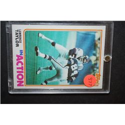 1982 NFL Lawrence Taylor Buffalo Bills Football Trading Card In Display Case; EST. $5-10