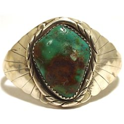 Old Pawn Navajo Royston Turquoise Sterling Silver Cuff Bracelet
