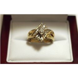Dead Pawn Non-Native Diamond 10k Gold Women's Ring - IK?