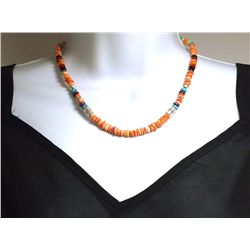 Navajo Spiny Oyster & Multi-Stone Necklace - Tommy Singer