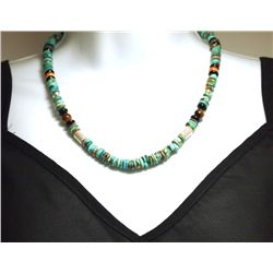 Navajo Turquoise & Multi-Stone Sterling Silver Necklace - Tommy Singer