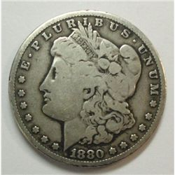 1880-CC MORGAN SILVER DOLLAR VG