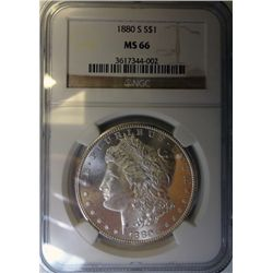 1880-S MORGAN DOLLAR NGC MS-66 SUPER!