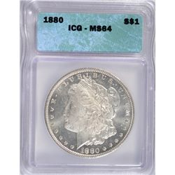 1880 MORGAN DOLLAR ICG MS 64