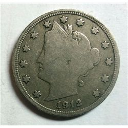 1912-S LIBERTY NICKEL FINE