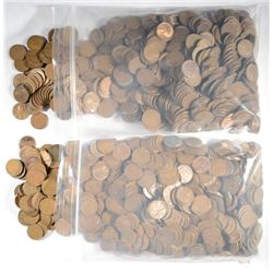 ( 1500 WHEAT CENTS )  1958 AND OLDER LINCOLN WHEAT CENTS