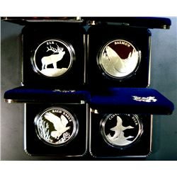 2003  NATIONAL WILDLIFE CENTENNIAL  PROOF SILVER MEDALS, CELEBRATING 100 YEARS
