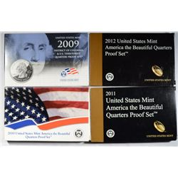 2009, 2010, 2011,2009, 2010, 2011, AND 2012 UNITED STATES CLAD QUATER PROOF SETS