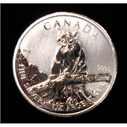 2012 CANADIAN $5.00 COUGAR, ONE OUNCE SILVER