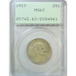 1923 Standing Liberty quarter PCGS O G holder 62  Est $160-$170