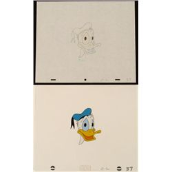 Cool Donald Duck Original Animation Cel Drawing Art