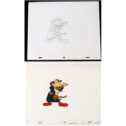 Cel Original Drawing Good Azrael Animation The Smurfs