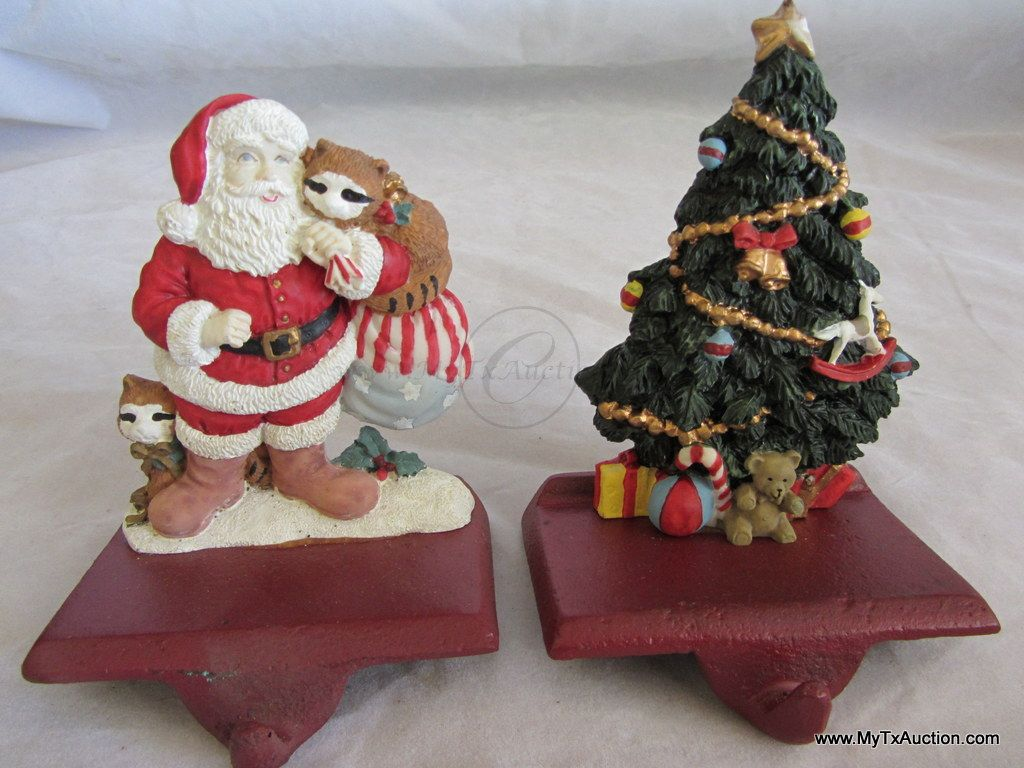 2 Fireplace Mantle/Shelf Christmas  Stocking Hangers - 2Sisters Trading Post