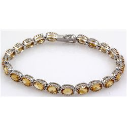 Citrine Sterling Silver 92.5 13 Grams 7 3/4in.