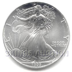 Uncirculated Silver Eagle 1995