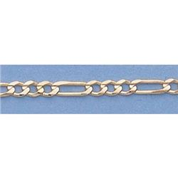 "Pure Gold 16"" 14k Gold-Yellow 2.3mm Figaro Chain 4.2g"