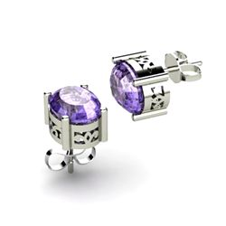 Tanzanite 3.20ctw Earring 14kt White Gold