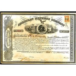 american express company stock certificate with henry