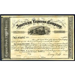 american express company type ii stock certificate with