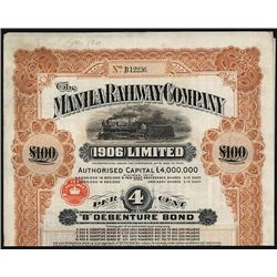 Manila Railway Co., Specimen Bond.