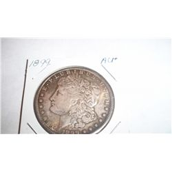 KEY DATE 1899 MORGAN SILVER DOLLLAR, AU