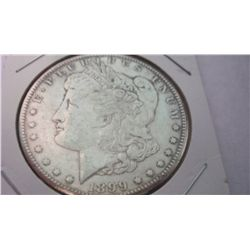 1899 MORGAN SILVER DOLLLAR, XF