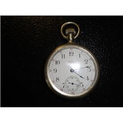 1915 American Waltham Pocket Watch with nickle case, Runs Well