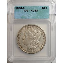 1888-S Morgan Dollar ICG AU-53