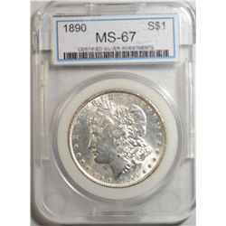 1890 Morgan Dollar CSI MS-67 It's MS-62