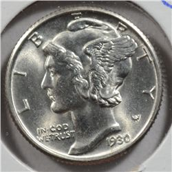 1930 MERCURY DIME MS66 FULL BANDS