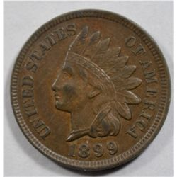 1899 INDIAN ONE CENT BROWN AU