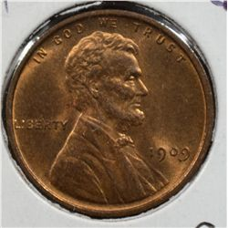 1909 LINCOLN ONE CENT MS65 RED